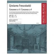 Frescobaldi, G.: Canzonen a 4 Heft 1 (Nr. I - IV)
