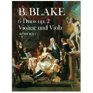 Blake, B.: 6 Duos Op. 2