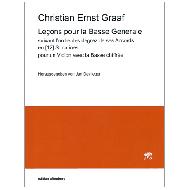 Graaf, Chr. E.: Leçons pour la Basse Generale - suivant lordre des degrez de ses Accords en Sonatines