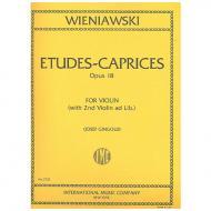 Wieniawski, H.: 6 Etudes-Caprices Op. 18