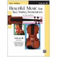 Applebaum, S.: Beautiful Music for two String Instruments Vol. 3 – Violine