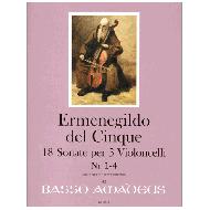 Del Cinque, E.: 18 Sonate - Band I ( Sonaten 1-4 )