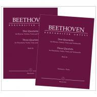 Beethoven, L. v.: Drei Quartette für Klavier, Violine, Viola und Violoncello WoO 36