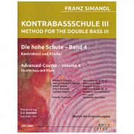 Simandl, F.: Kontrabassschule III – Die hohe Schule Band 4