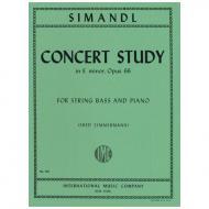 Simandl, F.: Concert Study in E minor, Op. 66
