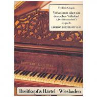 Chopin, F.: Variationen E-Dur über Der Schweizerbub