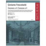 Frescobaldi, G.: Canzonen a 4 Heft 2 (Nr. V - X)