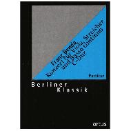 Benda, F.: Konzert für Viola, Streicher und Basso continuo C-Dur – Partitur