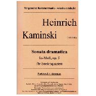 Kaminski, H.: Sonata dramatica Op.5 fis-Moll