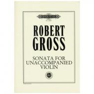 Gross, R.: Sonata for unaccompanied Violin