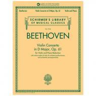 Vivaldi, A.: Violin Konzert  Op. 61 D-Dur (+Online Audio)