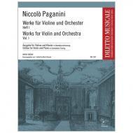 Paganini, N.: Werke für Violine und Orchester Band 1 in Skordaturstimmung