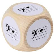 Notenwürfel mit Bassschlüssel