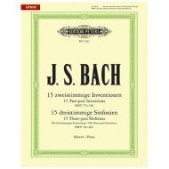 Bach, J. S.: Zwei- und dreistimmige Inventionen