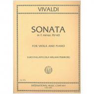 Vivaldi, A.: Violasonate e-Moll nach RV 40