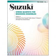 Suzuki String Quartets for Beginning Ensembles Vol. 3