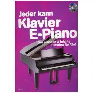 Jeder kann Klavier / E-Piano (+CD)