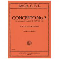 Bach, C. Ph. E.: Violoncellokonzert Nr. 3 in A-Dur