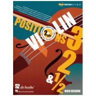 Dezaire, N.: Violin Positions 3-2 1/2 (+2CD's)