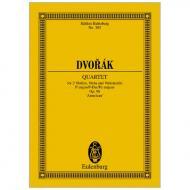 Dvořák, A.: Streichquartett Nr. 12 B 179 Op. 96 F-Dur »Amerikanisches«