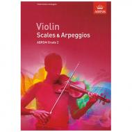 ABRSM: Violin Scales And Arpeggios – Grade 2 (From 2012)