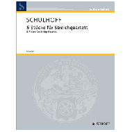 Schulhoff, E.: 5 Stücke für Streichquartett