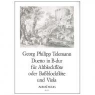 Telemann, G. Ph.: Duetto B-Dur