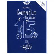 Kompendium für Violine – Band 15 (+ 2 CD's)