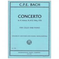 Bach, C. Ph. E.: Violoncellokonzert Wq. 170 a-Moll