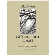 Kurtág, G.: Játékok — Spiele — Games, Band X