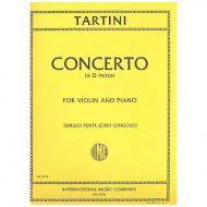 Tartini, G.:  Violinkonzert d-Moll