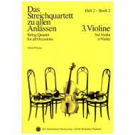 Das Streichquartett zu allen Anlässen Band 2 – Violine 3/Viola