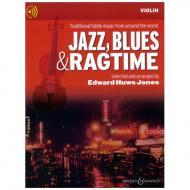 Huws Jones, E.: Jazz, Blues & Ragtime - Violin (+Online Audio)