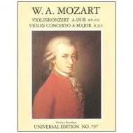 Mozart, W. A.: Violinkonzert Nr. 5 KV 219 A-Dur