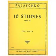Palaschko, J.: 10 Etüden Op. 49