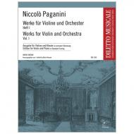 Paganini, N.: Werke für Violine und Orchester Band 1
