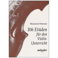 Petersen, M.: 106 Etüden für den Violinunterricht