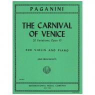 Paganini, N.: Il carnevale di Venezia Op. 10