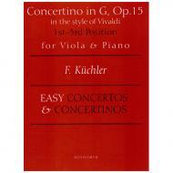 Küchler, F.: Concertino in G-Dur im Stile Vivaldis op. 15
