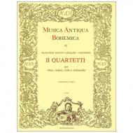 Kramár-Krommer, F.: Zwei Quartette – für Oboe, Violine, Viola und Violoncello