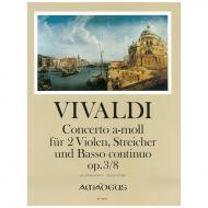 Vivaldi, A.: Concerto für 2 Violen, Streicher und B.c. a-Moll Op. 3/8 RV 522