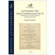 Abel, C. F.: Sechs Cembalosonaten Op. 2 – Sonaten V und VI