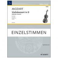 Mozart, W. A. / Casadesus, M.: Violinkonzert in D »Adelaide-Konzert« – Stimmen