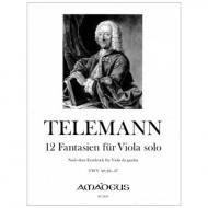 Telemann, G. Ph.: 12 Fantasien TWV 40:26-37 (1735)