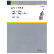 Schreier, A.: Zwei Studien zu einer Landschaft (2019)