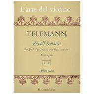 Telemann, G. Ph.: 12 Violinsonaten Band 2 (Nr. 4-6)