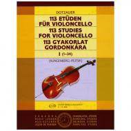 Dotzauer, J.J.F.: 113 Etüden Band 1