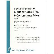 Cirri, G. B.: 6 Konzertante Trios Op. 18 Band 2 (Trios 2-6)