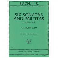 Bach, J. S.: Six (6) Sonatas and Partitas BWV 1001-1006 ( Hellmesberger )