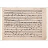 Grußkarte »Mozart-Faksimile II« »Ah, vous dirai-je Maman« KV 265